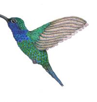 Green hummingbird tattoo design