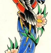 Parrots tattoo design