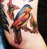 The autumn bird tattoo