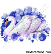 White swan tattoo design