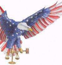 American eagle tattoo design