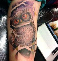Arm tattoo owl project