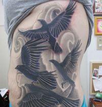 Tattoo with four birds