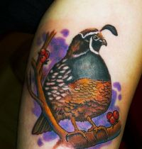 Tattoo with pheasant
