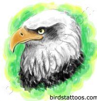 The eagle head tattoo design