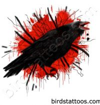 Black bird magpie tattoo design